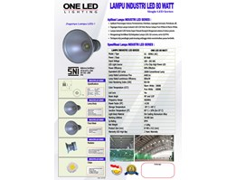 Jual Lampu Industri LED 80 Watt - LI.SOL-80 / AC