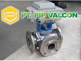 Jual 3 Way Flanged Floating Ball Valve