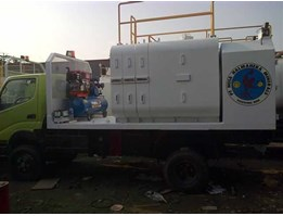 Jual Lube Service Truck With 8-10 Module & System Pneumatic/Hydraulic