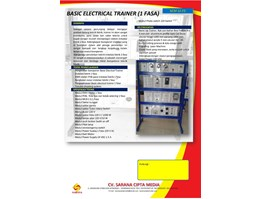 Basic Electrical Trainer (1 Fasa)