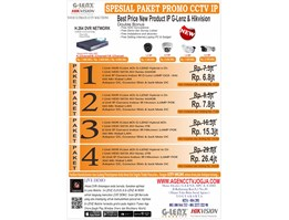 Jual Paket Promo IP 4Ch Camera Super High Resolutions 2MP Murah