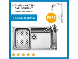 Jual Sink Teka Bahia 1B Plus Free Kran Linea Polo High Spout