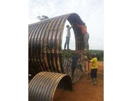 Jual Corrugated Steel Pipe Aramco Type Multi Plate Pipe