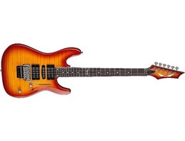 Dean Custom 380F (Available In Trans Blue, Amber Burst, and Black)