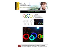 Lampu Hias Rainbow Ring