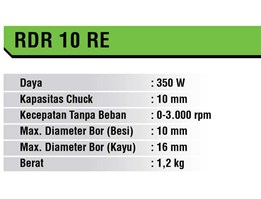 Jual Mesin Bor Ryu 10 mm (RDR 10 RE)