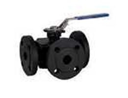 Jual BEE- 3 Way flanged ball valves in cast steel or stainless steel