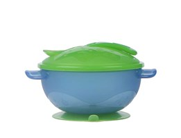 Hot Selling PP Plastic Suction Bowl with Cover and Spoon