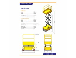 Jual Hydraulic Mobile Portable Scissor Table Lift - SCL3000