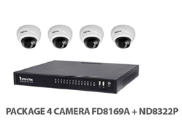 Package Vivotek 4 IP Camera FD8169A+ND8322P