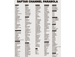 Jual Daftar chanel Free To Air di Indonesia
