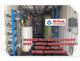 WATERTREATMENT MOBILE 250M3 PERDAY