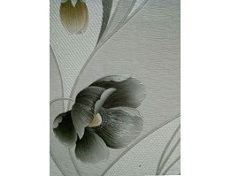 Jual Flowers Wallpaper Grey
