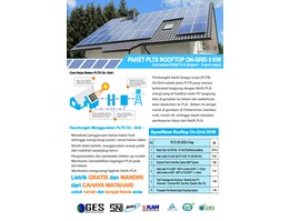 Paket PLTS Rooftop On-Grid 5 KWp