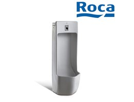 Roca Site electronic Urinal with black inlet