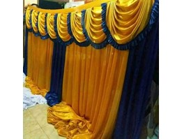 Jual Background Dinding Gold-Biru