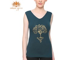 Jual Baju Yoga / Top Double Colour Hijau Tua