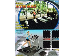 Jual Rubber Gym Mat Solid