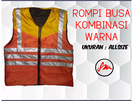 ROMPI SAFETY BUSA KOMBINASI/WORK VEST COMBINATION/SAFETY VEST SPONS