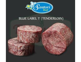 Jual DAGING SAPI SANTORI BLUE LABEL T (TENDERLOIN) 200 GR