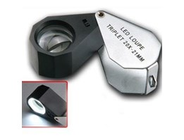 Jual LED LOUPE TRIPLET 20 X - 21 MM