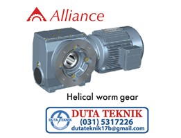 Jual Alliance Helical Worm Gear Motor