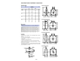 Wound primary current transformers type PB, MB, GB, RB, PB