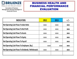 FINANCIAL PERFORMANCE EVALUATION