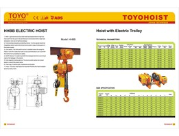 Jual ELECTRIC CHAIN HOIST TOYO