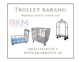 Jual Trolley Barang Stainless steel