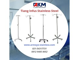 Tiang infus stainless steel