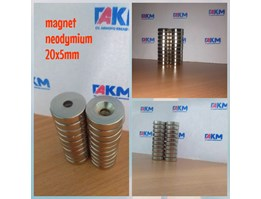 Jual MAGNET NEODYMIUM 20X5MM (RING)