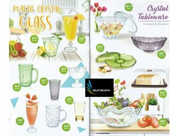 gelas plastik kristal tableware golden dragon