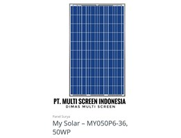 Panel Surya My Solar 50 WP