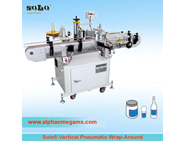 Jual SOLO Vertical Pneumatic Wrap-Around Labeling Machine