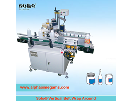 Jual SOLO Wrap Around Vertical Side Belt Labeling Machine
