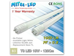 T8 LED 18W - 120CM (Warranty 1thn)
