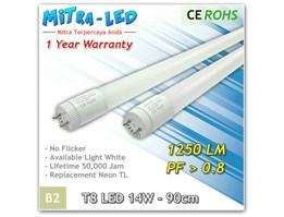 T8 LED 14W - 90CM (Warranty 1thn)