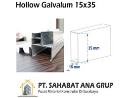 Jual Besi Hollow Galvalum 15x35 mm