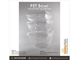 Tray PET Bowl 400ml