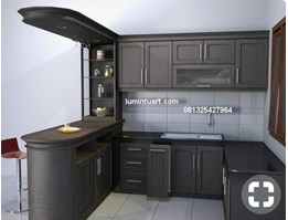 kitchen set minimalis set ruang dapur bar oval