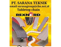 PT SARANA TEKNIK REXNORD TABLETOP CHAIN CONVEYOR CHAIN