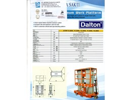 Jual DISTRIBUTOR MANLIFT TANGGA ELECTRIC GTWY DALTON