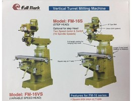 MESIN VERTICAL TURRET MILLING FM-16S / 16VS