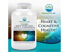 Jual Natures Lab CoQ10 + Alpha Lipoic Acid + Acetyl L-Carnitine HCl, 120 Vegetarian Capsules.