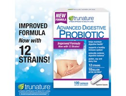 Trunature Advanced Digestive Probiotic, 100 Capsules.