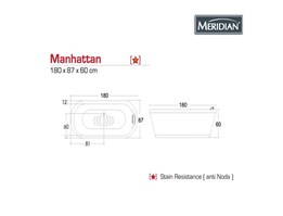 Jual Meridian Bathtub Manhattan
