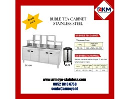 Jual buble tea cabinet stainless steel