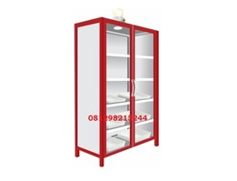 Jual Steel Chemical Storage Cabinet 2 Glass Doors