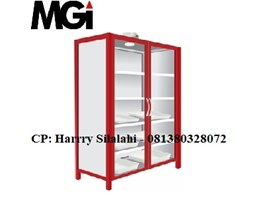 Jual Steel Chemical Storage Cabinet, 2 Glass
